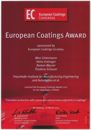 European Coatings Award